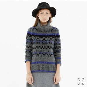 Madewell Iceblock Fair Isle Merino Wool Sweater